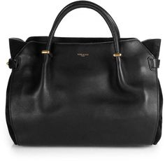 Nina Ricci. Marche Suede paneled leather tote #bags