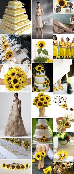 Sunflower Wedding Ideas | Weddinary.com