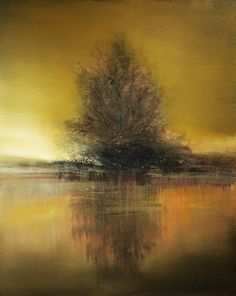 Size: 20x16 in Artwork Description: The Sentinel depicts the prominence exuded by the singular tree on the banks of lake. This piece features a palette of rich earth tones. Artwork Medium: Panel About