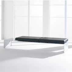 Elevation Bench with metallic silver painted base