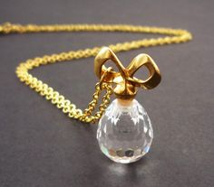 :: Perfume Bottle necklace :: so cute & so practical; what's not to love?