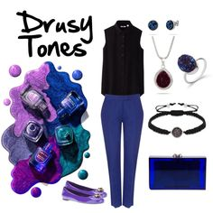 """Drusy Tones"" by evesaddiction on Polyvore"