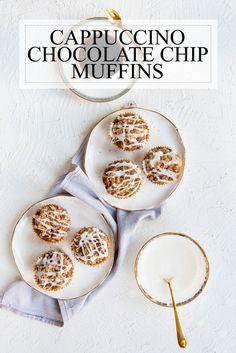 Espresso #Cappuccino Chocolate Chip #Muffins Recipe with #CoffeeCake Streusel