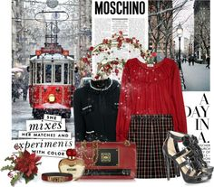 """""""*** Moschino winter ***"""" by a-polyvore-girl ❤ liked on Polyvore"""