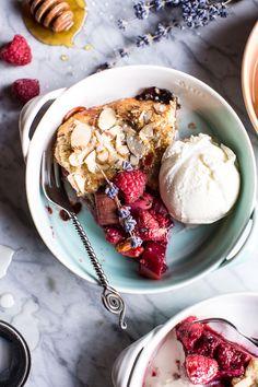 Lavender Honey and Raspberry-Rhubarb Galette | halfbakedharvest.com