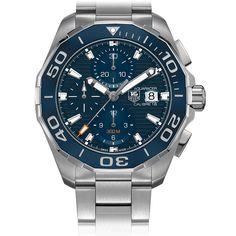 fa2caffe68f TAG Heuer AQUARACER 300M Calibre 16 Automatic Chronograph 43 MM Ceramic  Bezel Men s Watches