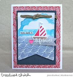 Created by Jenn Shurkus using the July 2015 card kit by Simon Says Stamp.