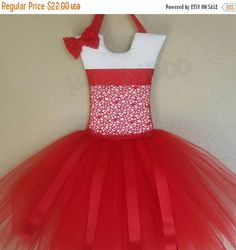 Sale Elegant Red Tutu Hair Bow Holder by KiksNBoo on Etsy