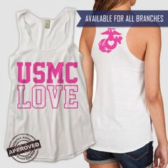 Military Love Racerback Tank - Hsieh Christianson u need this! Proud Navy Girlfriend, Marines Girlfriend, Usmc Love, Military Love, Military Engagement Pictures, Us Navy Love, Passion For Fashion, Love Fashion, I Love My Hubby