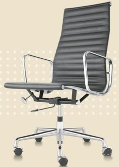 Management Executive Office Chair High back   The Aluminum group is available in management, side, executive, and lounge models. Their classic lines and comfortable suspension keep them in demand for all kinds of places, from contemporary homes to elegant offices to hip startups. Professional but comfortable, the Management Office Chair's sleek and sparkling chrome look makes this piece of furniture a must in any Office.  #DezignLover, create your modern space!