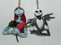 The Nightmare Before Christmas Jack and Sally Best Friend Necklaces. $91.25, via Etsy.