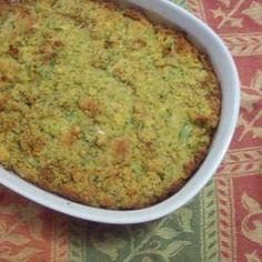 Grandma's Corn Bread Dressing Allrecipes.com I add bell pepper and boiled turkey thigh pieces to mine.