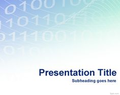 Free binary PowerPoint template background with light colors