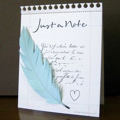 Stampin for the Fun of It: Just a note