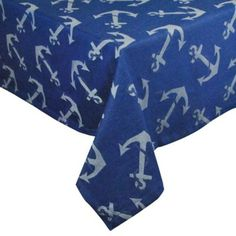 Anchors Away Tablecloth - BedBathandBeyond.com