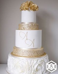 44 Best white and gold wedding cake images