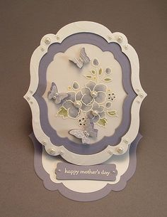 Very pretty flower #card made with #BorderingonRomance from #StampinUp