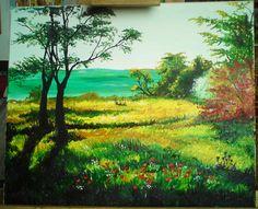 meadow by sandrutowiec on DeviantArt Deviantart, Painting, Painting Art, Paintings, Painted Canvas, Drawings