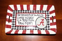 University of Alabama Roll Tide Houndstooth Mini Tray