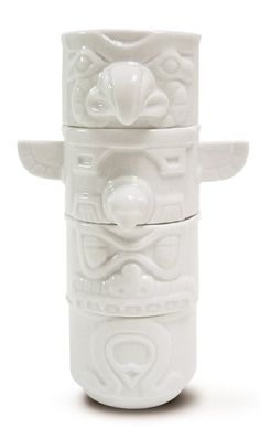Native Totem Stacking Mugs. Set of 4. Great to show off the Native American tradition!