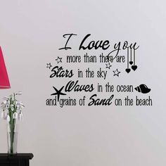 I Love You More Than Stars Wall Vinyl