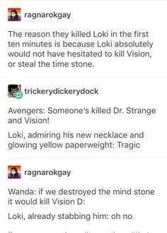 Loki's death, infinity war