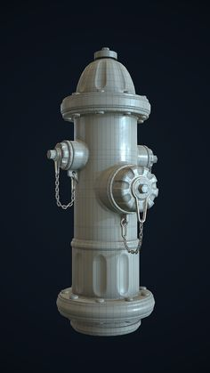 Low poly Fire Hydrant made with modo 701 and MeshFusion, textured with Substance Designer rendered with Marmoset Toolbag