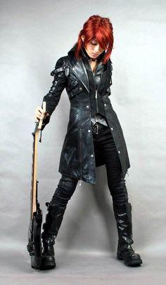 Punk Rave Long Black Gothic Jacket