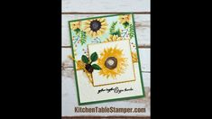 Kitchen Table Stamper Painted Harvest Stamp a Stack - Gather Together Card Two - YouTube