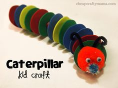 """""""C"""" is for Caterpillar- fun to make and fun to play with!"""