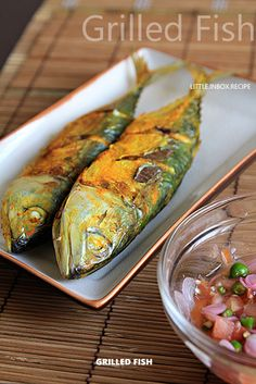 Grilled Fish [Air-fryer Recipe] Ingredients: Small fishes (I used kembung fish) sea salt and turmeric powder for marinades Steps: 1. Cut and remove intestines from the fishes. Clean and pat dry. 2. Marinate the fish for 30 minutes. 3. Arrange fish in the airfryer basket. Air-fry at 180 degC for the first 5 minutes. Then, 200deg C for another 8 minutes. 4. Serve hot with your favorite chili sauce.