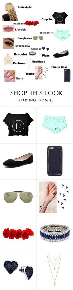 """""""Emma's outfit for day in Rio De Janeiro, Brazil"""" by onedirectionforever1297 on Polyvore featuring Carmar, Verali, Tory Burch, Ray-Ban, Kenneth Jay Lane, BillyTheTree, Forever 21 and Balmain"""