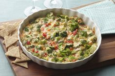 Just mix, heat and serve - this warm cheese dip is that easy!  Our Zippy Hot Broccoli Dip Madeover is ready in 30 minutes - all you have to do is partner it with some crisp veggie dippers and bite-size crackers.