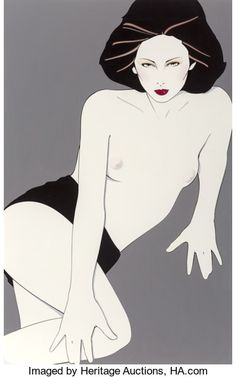 Pin-up and Glamour Art, Patrick Nagel (American, 1945-1984). Playboy After Hoursillustration, August 1980. Acrylic on board. 19 x 12 in.(sight...