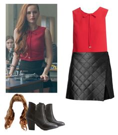 Cheryl Blossom - Riverdale by shadyannon on Polyvore featuring polyvore fashion style Witchery Ted Baker Dollhouse clothing