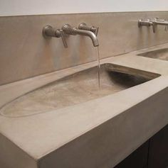 Dewulf Concrete Bathroom Vanities Home Portfolio Bathroom Furniture Ideas! Buy Architectural Home Home Decor You Love! Concrete Sink, Concrete Bathroom, Concrete Furniture, Concrete Projects, Bathroom Countertops, Bathroom Basin, Concrete Countertops, Bathroom Furniture, Bathroom Interior
