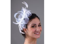 5690C - Fascinator comb Crinoline with headband by KayCo