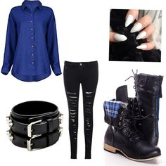 Fnaf 4 nightmare Bonnie inspired outfit by mangle87 on Polyvore featuring Glamorous and Yves Saint Laurent