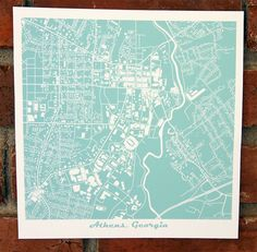 This original map of Athens, GA is focused on the campus of the University of Georgia.  Look closely near the center and youll be able to pick out the