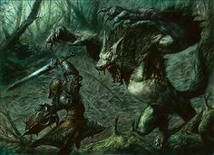 Prey Upon | Art by Dave Kendall Planeswalker's Guide to Innistrad: Kessig and Werewolves | MAGIC: THE GATHERING