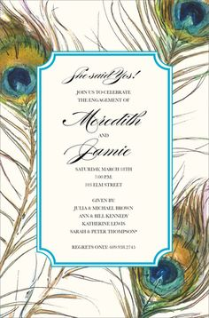 Feathers Invitations