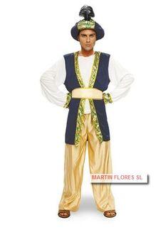 Disfraz beduino azul hombre o sultan verde en www.martinfloressl.es Disfraz cabalgata reyes #sevilla #triana