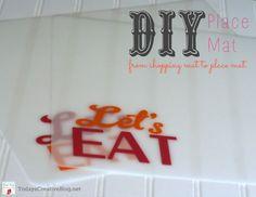DIY Outdoor placemats made from Cutting Mats | TodaysCreativeBlog.net