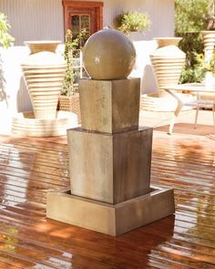 This outdoor fountain is ideal for any setting.   Please visit us at https://www.waterfeaturesupply.com/waterwalls/outdoor-water-fountains.html to get even more information regarding this fountain.