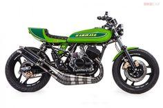 Beautiful Kawasaki classic-green cafe racer