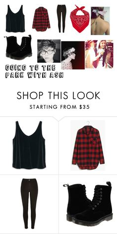 """going to the park with ash"" by lol123-428 on Polyvore featuring MANGO, Madewell and Dr. Martens"