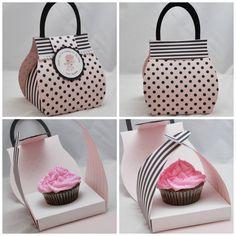 Favor box ~ poodle cupcake purse bag by CardsandMoorebyTerri
