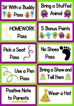 Fun Ideas for students to work for vs. candy/material rewards!