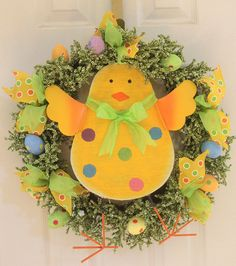 Easter Wreath Chick Easter Wreath Easter wreathe for by Leopard
