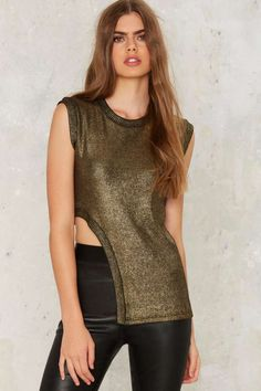 Nightwalker Taj Knit Top - Gold | Shop Clothes at Nasty Gal!